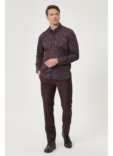 Beymen Business Slim Fit Pantolon 4B5011810002 Bordo